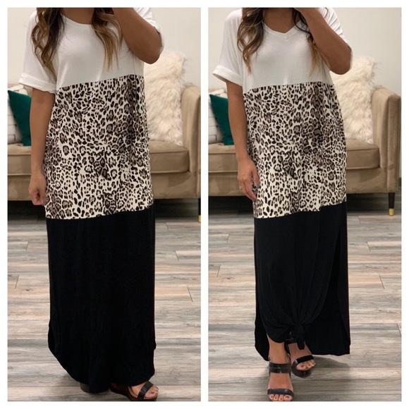 756bc480df9b white birch Dresses | Bnwt Leopard Color Block Maxi | Poshmark